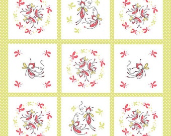 "Riley Blake designs  ""Butterfly Dance""  Butterfly Panel by Cinderberry Stitches  Cotton Fabric Panel BTY"