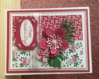 Pink Flower Mother's Day Card