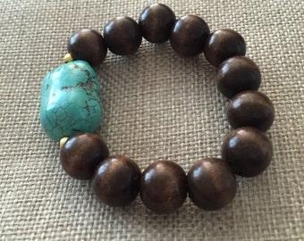 Turquoise Nugget Bracelet