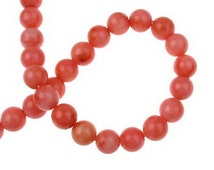 8mm Orange Coral Beads Coral Beads Bead Supplies Jewelry beads Jewelry Tools Craft Supplies Round Carved Beads Round Ball Beads-181133