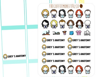 grey's emotis (erin condren stickers)
