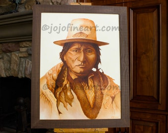Native American Indian Sitting Bull Art Painting