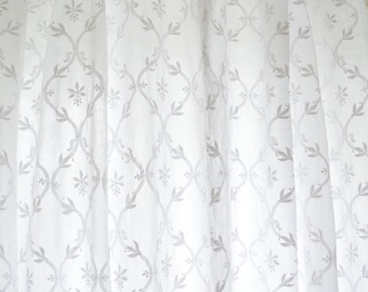 Curtains Ideas cotton curtains white : Embroidered curtains | Etsy