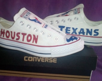 Custom Houston Texans Converse Tennis Shoe