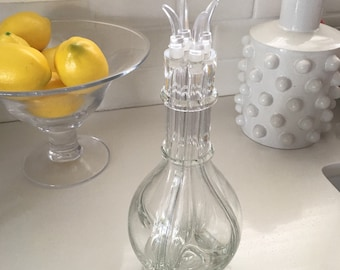 Vintage 4 Chamber Liquor Decanter Bottle