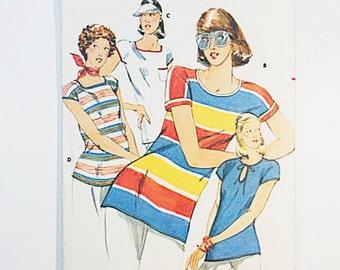 70s Blouse Pattern   Butterick 5484 Misses T Shirt Pattern   70s Sewing Pattern