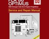 Optimus Service and Repair Manual T-shirt - Anime Manual Parody Clothing