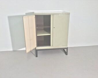 Industrial Vintage Steel Cabinet