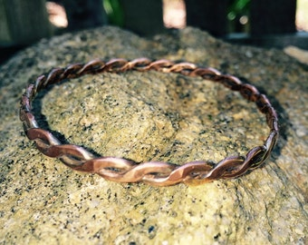 Twisted Copper Bangle Bracelet