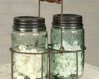 Wire Pint Mason Jar Caddy