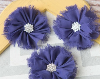 Purple ballerina flowers, fabric flower supplies, shabby chiffon flowers, craft supplies, large flowers, wholesale flowers headband supplies
