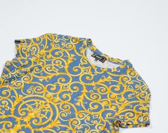 VERSACE - cotton baroque style t-shirt