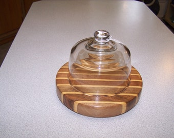 Cheese Plate with Dome Lid (Stock #: 017)