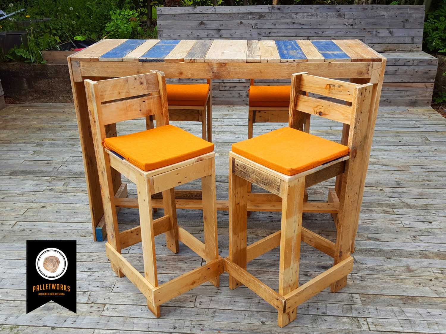 Pallet Bar Stools amp Table Set Breakfast Bar by  : ilfullxfull1030706959nv0g from www.etsy.com size 1500 x 1125 jpeg 498kB