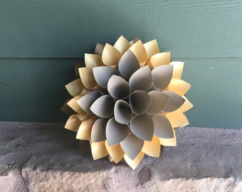 Small Metalic paper wall flower