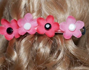 girls small 80mm pink buttercup french barrette