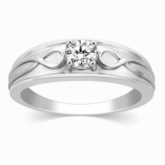 infinity solitaire ring for in platinum jl pt 444