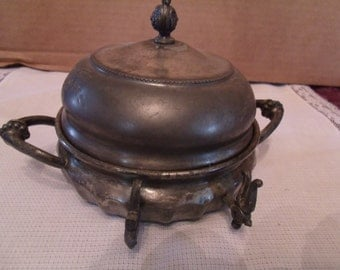 Antique Butter Dish, Forbes Silver Co. Silver plated, (# 78/6)