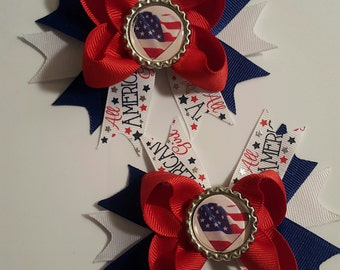 American Girl Girls Hair Bows.  Set of 2