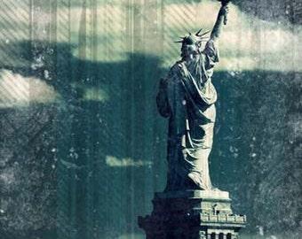 Statue of Liberty Photography, New york harbor, NYC, Landmark, wall Art, wall decor