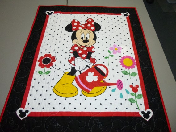 Minnie Mouse Quilt Minnie Mouse Quilted Wall Hanging Theme