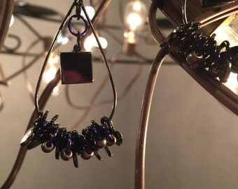Metallic with hearts and purple accents