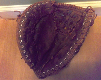 Vintage Baseball Glove,leather baseball glove, collector, sports