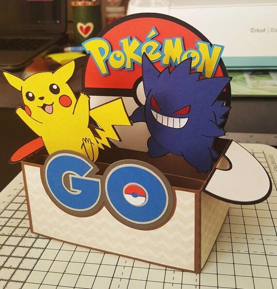 Birthday Cards Pokemon: Pokemon GO Box Card SVG