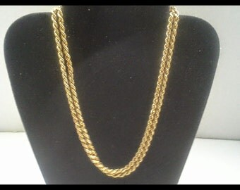 Vintage 14k gold 30inch gold chain 4mm