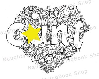 Cunt print etsy Naughty coloring books for adults
