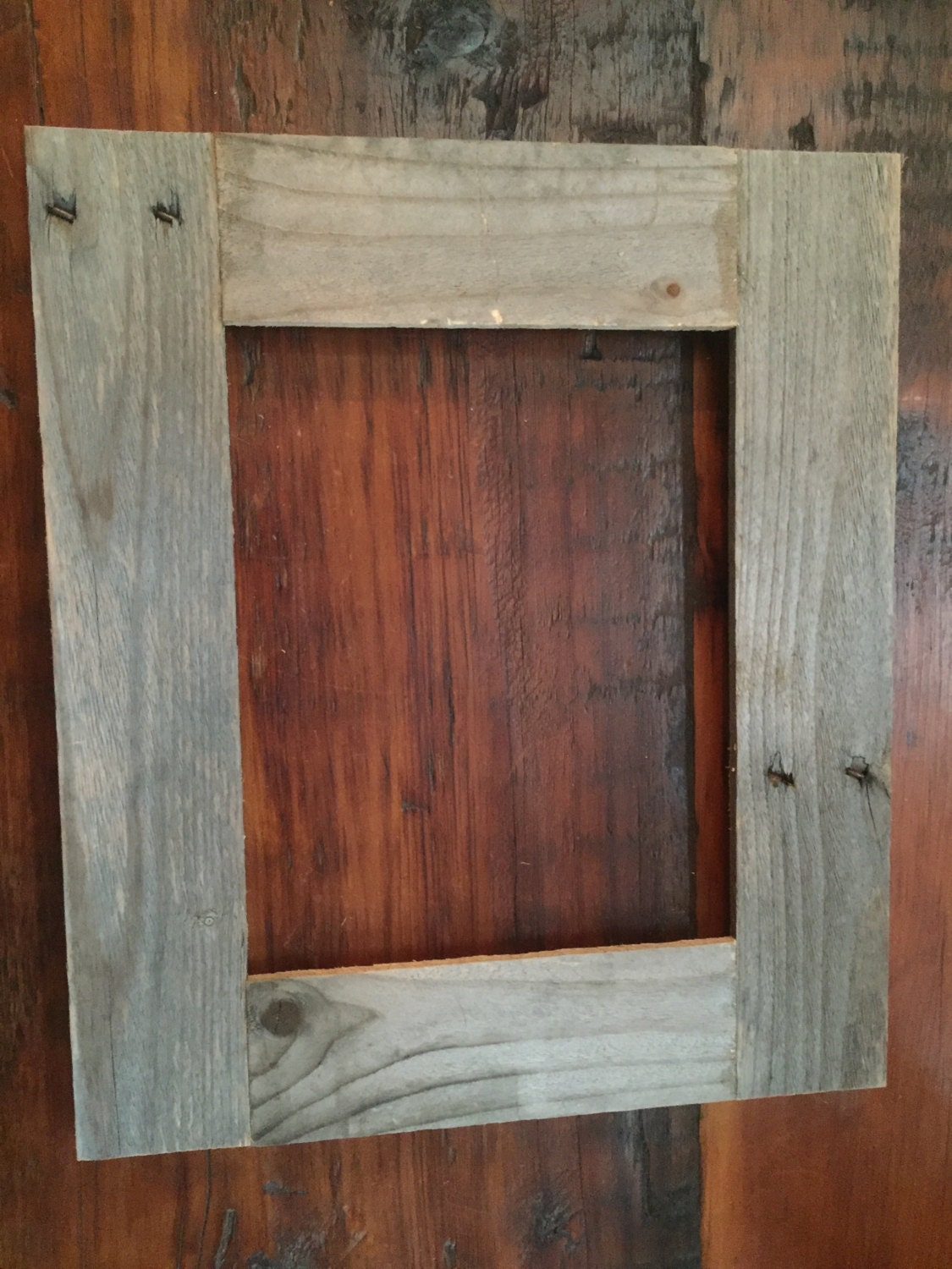 Picture Frame Reclaimed upcycled Wood Pallet fits 8 by ...