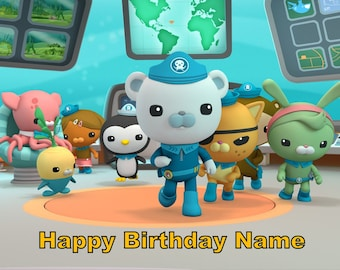 Octonauts Edible Image Cake Topper Personalized Birthday 1/4 Sheet