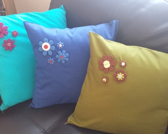 Hand decorated cushion cover