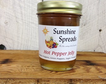 Hot Pepper Jelly, 8 Ounce Jar, Amish Made
