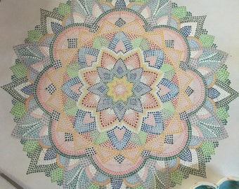 Needle point Mandala