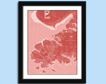 Homer AK - Nautical Chart Decor