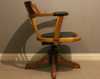Antique Edwardian swivel desk office chair NOW SOLD