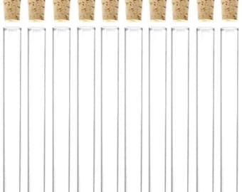 200 x 11ml Plastic Test Tubes With Corks / Party Favours