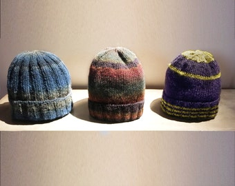 hand knitted, Beany