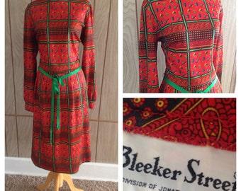 Vintage 70's primary color BLEEKER STREET dress - large