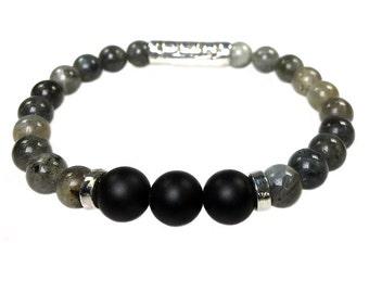 361 Labradorite Sterling silver bracelet