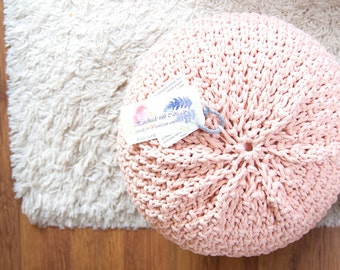 Knitted cover for pouf / ottoman + 2 bags with zippers, without stuffing 47 colors