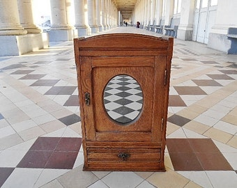 Wood mirror etsy - Relooker armoire ancienne ...