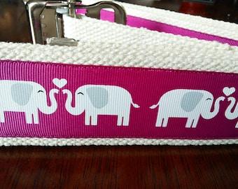 Elephants on Pink