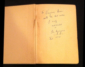 Archy's Life Of Mehitabel By Don Marquis Signed by author Don Marquis (1934)