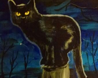 Original painting - black cat