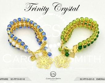 Trinity Crystal Bracelet by Carolina Smith Jewelry