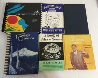 Lot of 6 Vintage Cookbooks
