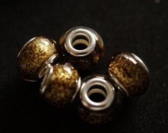 5 European style pandora beads
