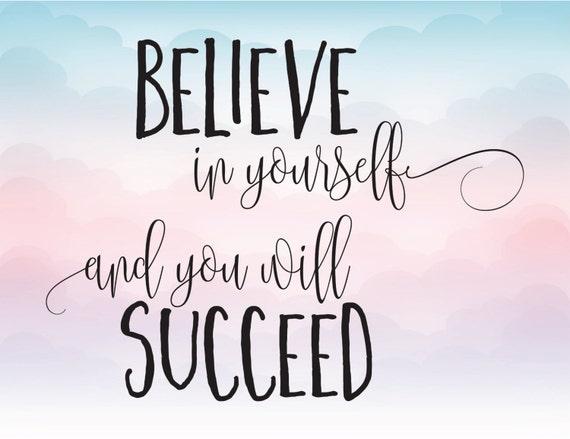 believe in yourself essay